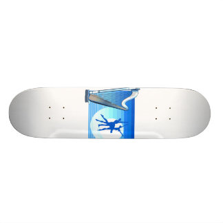 Harp and Dancers Blue Version Graphic Image Skateboard