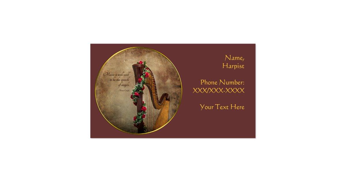 Harp Business Card Zazzle
