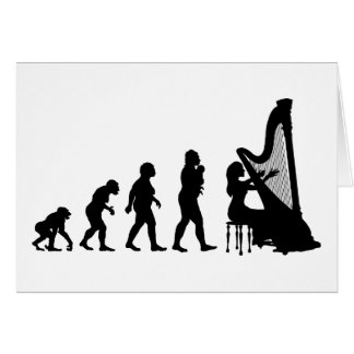 Harp Greeting Card