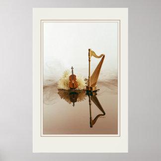 Harp & Cello 23x35 Poster
