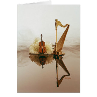Harp & Cello card