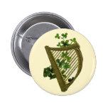 Harp & Clover - Button