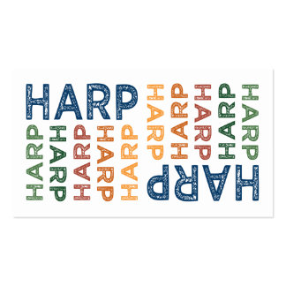 Harp Cute Colorful Business Card Templates