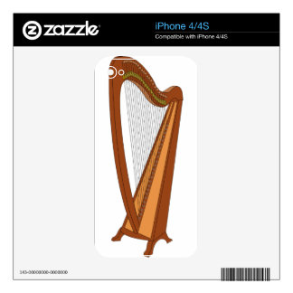 Harp Drawing iPhone 4 Decal