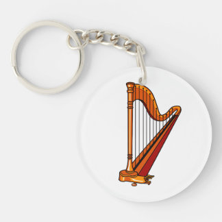 harp graphic pedal.png Double-Sided round acrylic keychain