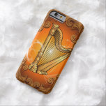 Harp in gold with elegant damasks iPhone 6 case
