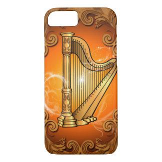 Harp in gold with elegant damasks iPhone 8/7 case