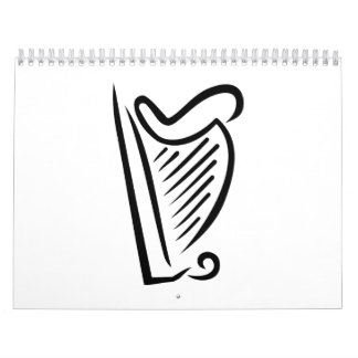 Harp instrument calendar