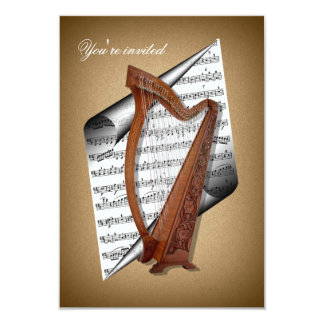 Harp invitation cards
