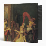 Harp lesson given by Madame de Genlis 3 Ring Binder