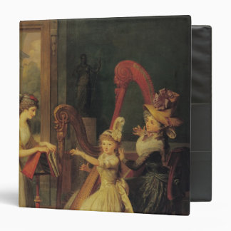 Harp lesson given by Madame de Genlis 3 Ring Binders