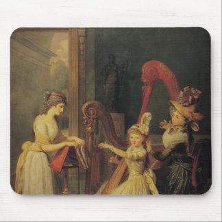 Harp lesson given by Madame de Genlis Mousepad