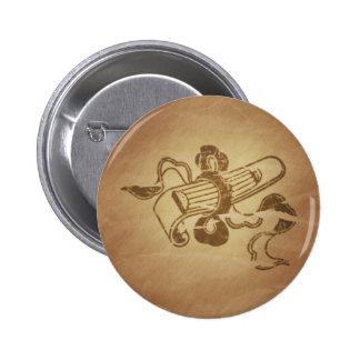 Harp Music Chinese Pinback Buttons