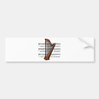 Harp musical 02 B Bumper Sticker