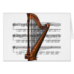 Harp musical 02 B Card