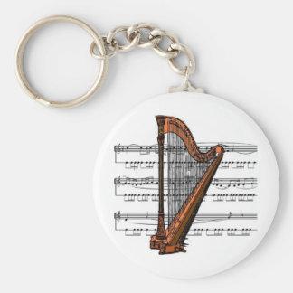 Harp musical 02 B Keychain