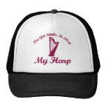 harp musical designs trucker hats