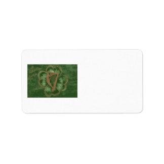Harp of Erin Four Leaf Clover Green Label