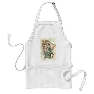 Harp of Erin Victorian Girl Adult Apron