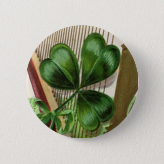 Harp of Erin Vintage St. Patrick's Day Pinback Button