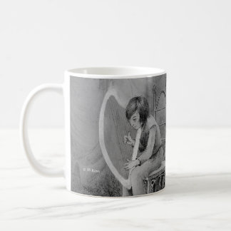 Harp of moonlight, played for the Woodland King Classic White Coffee Mug