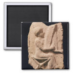 Harp player, 1830-1600 BC 2 Inch Square Magnet