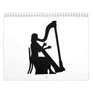 Harp player calendar