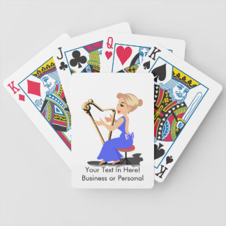 harp player female side blue.png bicycle playing cards