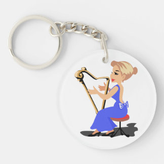 harp player female side blue.png keychain