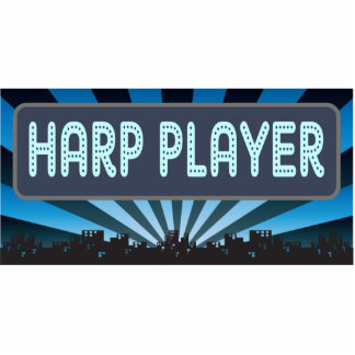 Harp Player Marquee Cut Out