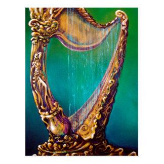 Harp Postcard