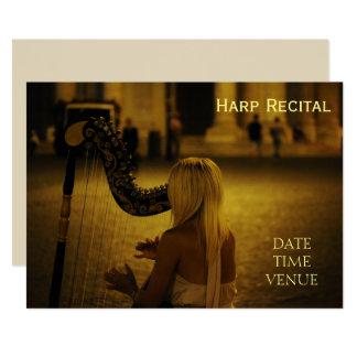 Harp Recital Card