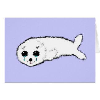 Harp seal card