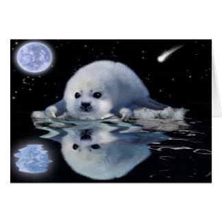 HARP SEAL Fantasy Wildlife Art Greeting Card