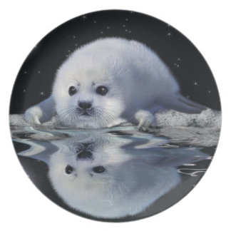 Harp Seal on an Ice Floe Nature-lover's Plate