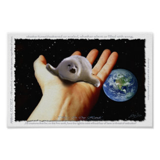 Harp Seal Protection EARTH DAY Art Poster (small)