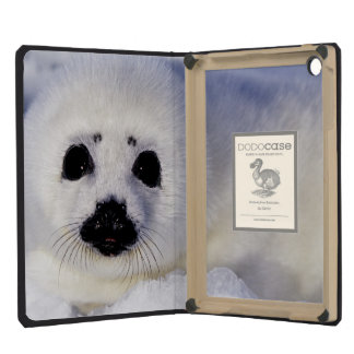 Harp seal pup ice Gulf of St. Lawrence, iPad Mini Cover