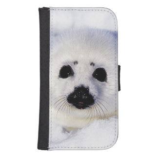 Harp seal pup ice Gulf of St. Lawrence, Galaxy S4 Wallet