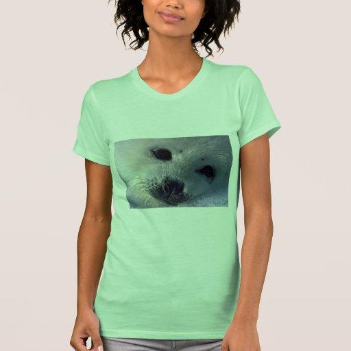 Harp seal pup t-shirts