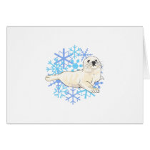 HARP SEAL SNOWFLAKES CARD