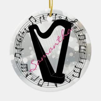Harp Silhouette Design Ornament