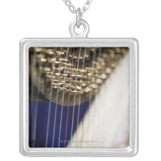 Harp Silver Plated Necklace