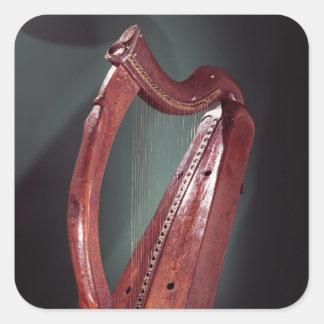 Harp Square Sticker