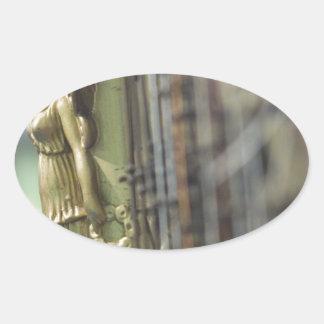 Harp Oval Sticker