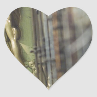 Harp Heart Stickers