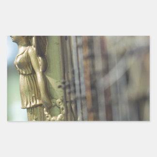 Harp Rectangular Sticker