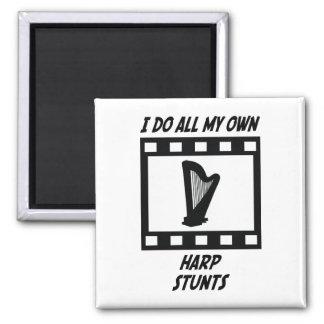 Harp Stunts 2 Inch Square Magnet