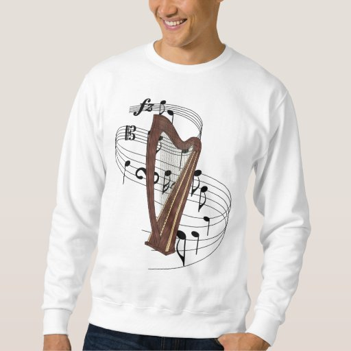 Harp with Music Notes Sweatshirt
