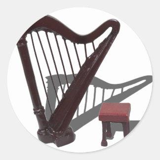 HarpAndBench121210 Pegatina Redonda