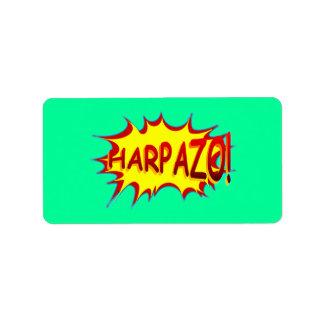 HARPAZO! (Rapture) Address Label